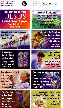 King James Version Gospel Stickers